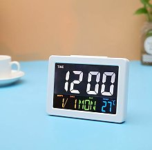 Color LCD Digital Alarm Clock Desk Table