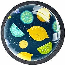 Color Lemon 4 PCS Decorative Cabinet Wardrobe