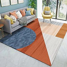 Color line geometry Multicoloured Cotton Rug for