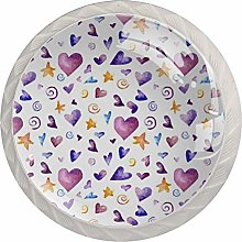 Color Love 4 Pack Glass Drawer Knobs- Round Shape