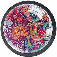 Color Mandala Crystal Drawer Handles Furniture