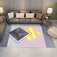 Color matching geometry Fluffy Rug for the