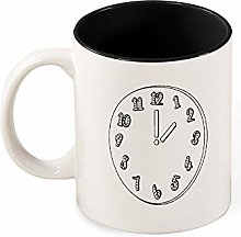 Color Mug Inside Abstract Clock Black for Home