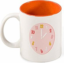 Color Mug Inside Abstract Clock for Home Kitchen
