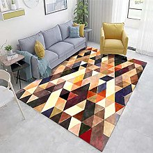 Color Office Rug Abstract ink pattern living room
