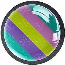 Color Stripes (4 PCS) Colorful Crystal Glass