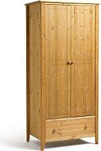 Colorado 2 Door 1 Drawer Wardrobe - Pine