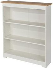 Colorado Low Wide Bookcase In White With