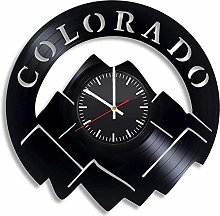 Colorado Vinyl Wall Clock Vinyl Record Clock Wall