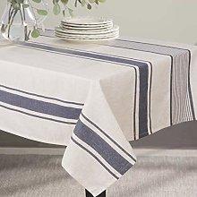 ColorBird French Stripe Tablecloth Cotton Linen