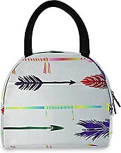 Colored Arrows Lunch Bag Cooler Bag Insulated