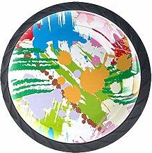 Colored Graffiti Crystal Drawer Handles Furniture