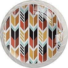 Colorful Arrow Pattern 4PCS Round Shape Cabinet