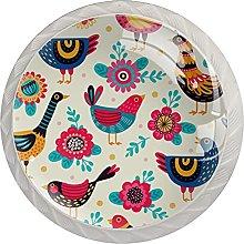 Colorful Bird Pattern, Modern Minimalist Printing