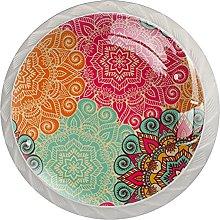 Colorful Boho Flower Pattern, Modern Minimalist