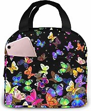 Colorful Butterfly Reusable Lunch Bags Leakproof