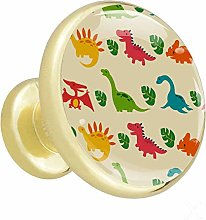 Colorful Cartoon Dinosaur Cabinet knobs Gold knobs