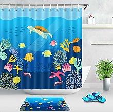 Colorful Cartoon Underwater World Waterproof