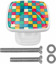 Colorful Cube Drawer Knob for Home Cabinet Dresser