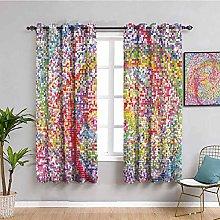 Colorful Decor Shading Insulated Curtain Rainbow