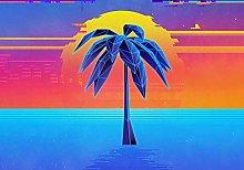 Colorful digitization Tree sea-50x50cm,DIY 5D