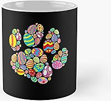 Colorful Egg Easter Paw Funny Dog Cat Lovers Day