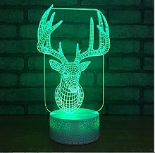 Colorful Elk Bursting Bottom 3D Desk Lamp Led Deer