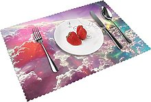 Colorful Fantasy Clouds Art Hd Table mat 4 piece