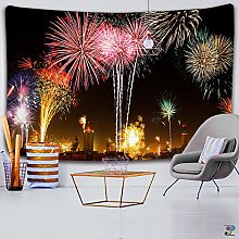 colorful fireworks tapestry wall hanging beach