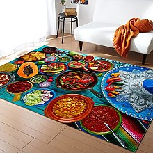 Colorful Food Carpet for Bedroom Rugs and Carpet