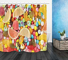 Colorful Fruit Sweet Candy Bathroom Polyester