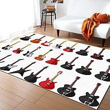 Colorful Guitar Carpet for Living Room Home Living