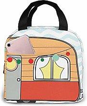 Colorful Happy Cute Caravan Pastel Cartoon Comic