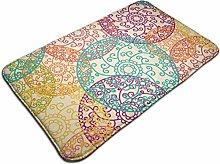 Colorful Mandala Pattern Bath Mat Door Mats Rug
