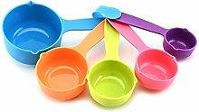 Colorful Measuring Tsp Scoop Reusable Plastic