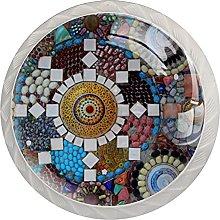 Colorful Mosaic Modern 4PCS Round Shape Cabinet