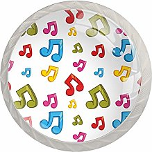 Colorful Music Notes Cabinet Knobs Drawer Knob