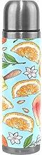Colorful Orange Lemon Citrus Thermos Sport Water
