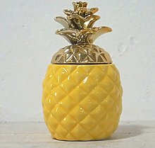 Colorful Pineapple Shape Ceramic Container with