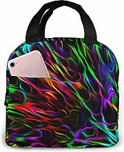 Colorful Portable Lunch Bag Insulated Cooler Bag