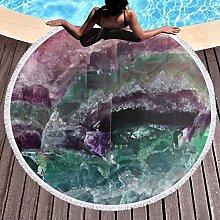 Colorful Printed Round Beach Towel Yoga Picnic Mat