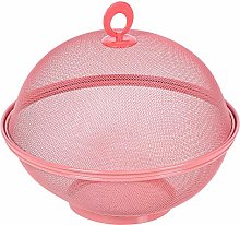 Colorful Round Dome Metal Mesh Food Cover Lip Fly