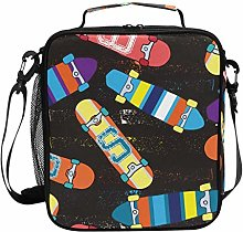 Colorful Scooter Pattern Lunch Bag Insulated Lunch