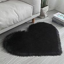 Colorful Shaggy Carpet False Wool Fluffy Mat Heart