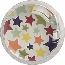 Colorful Stars Pattern Drawer Knobs Pulls Cabinet