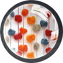 Colorful Textile Wall, Kitchen Cabinet Knobs