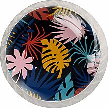 Colorful Tropical Leaves Pattern, Modern