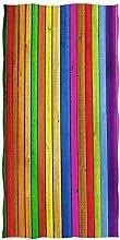 Colorful Wooden Stripes Bath Towels, Rainbow Color