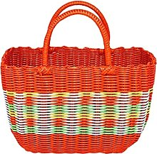 Colorful Woven Shopping Basket Woven Tote Bag