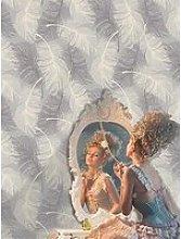 Coloroll Coloroll Feathers Dappled Grey Glitter